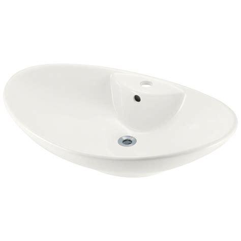 polaris sinks porcelain vessel sink in white p2012v w