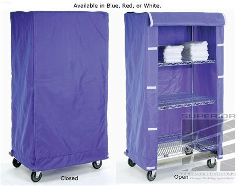 Cart Shelving Covers in colored Nylon or clear Vinyl