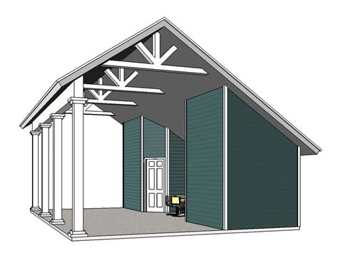 Motorhome Carport Plans by Carport Plans Rv Carport Plan With Two Closets 006g