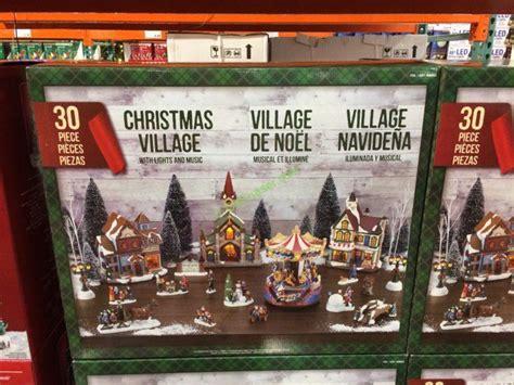 christmas village led lights   piece set