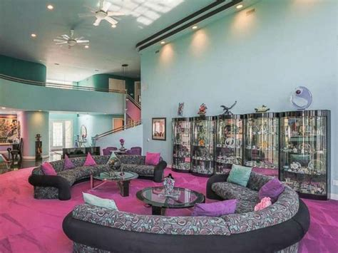 90s home decor mansion decorated in fly 90s style listed for abc news