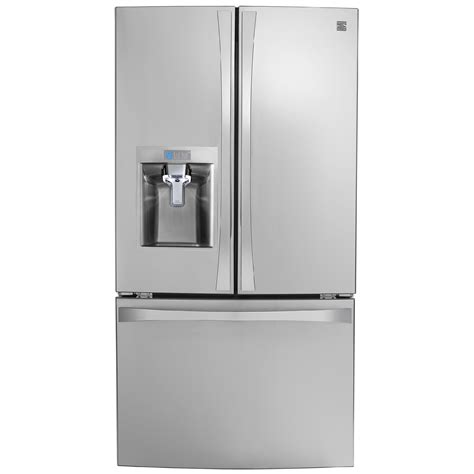 counter depth refrigerator dimensions sears kenmore elite 74043 23 7 cu ft door fridge sears