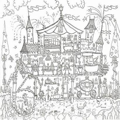 Colouring Princess Palace Poster Coloring Posters Pages