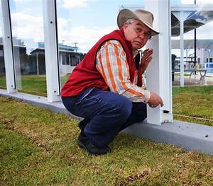 Local questions safety of pool wind break work | Glen ...