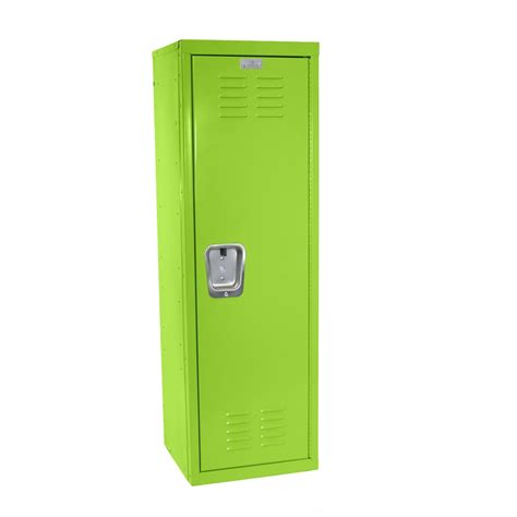 "Kids Green Locker for Mudroom or Playroom 15""d x 15""w x 48""h"