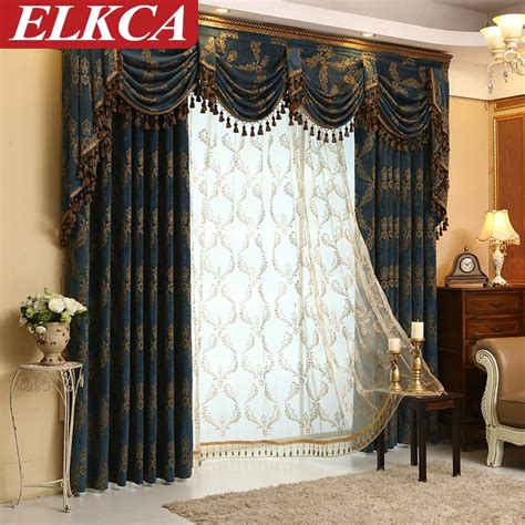 Luxury Curtains And Drapes by Modern Jacquard Luxury Curtains For Living Room European