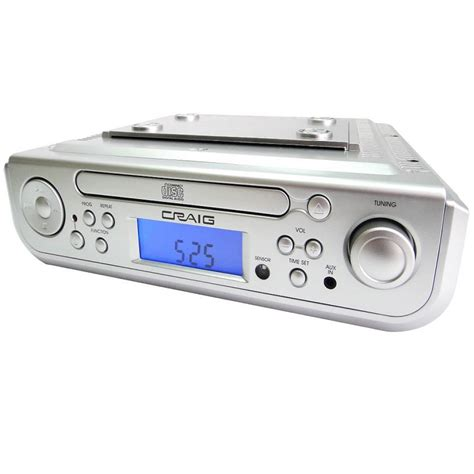 Under Cabinet Cd Player With Bluetooth Am Fm Radio Alarm