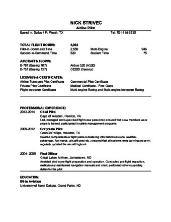 Airline Resume by Everything By Choice How To Become An Airline Pilot