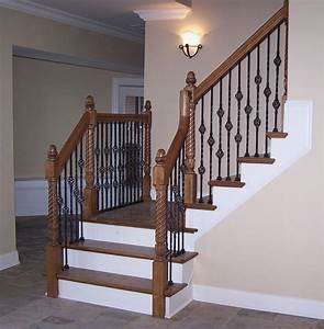 Adorn Staircase Using Beautiful Iron Stair Railing