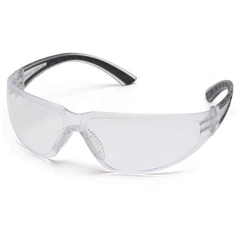 Pyramex Cortez Black Frame Safety Glasses W Clear Lens