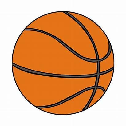 Basketball Draw Drawing Simple Easy Step Cartoon