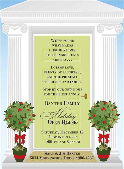 christmas open house invitations christmas invitation