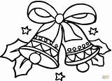 Coloring Bells Christmas Pages Printable Dot Drawing Paper sketch template