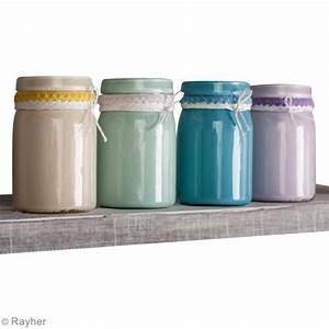 Pot En Verre Deco : diy d co recycler vos pots en verre avec de la peinture ~ Melissatoandfro.com Idées de Décoration