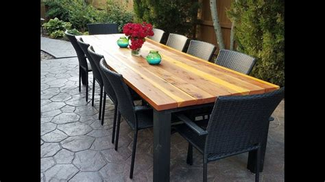 diy outdoor dining table youtube