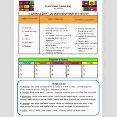 Prek Literacy Unit Lesson Plan  Vocabulary  Reading Comprehension