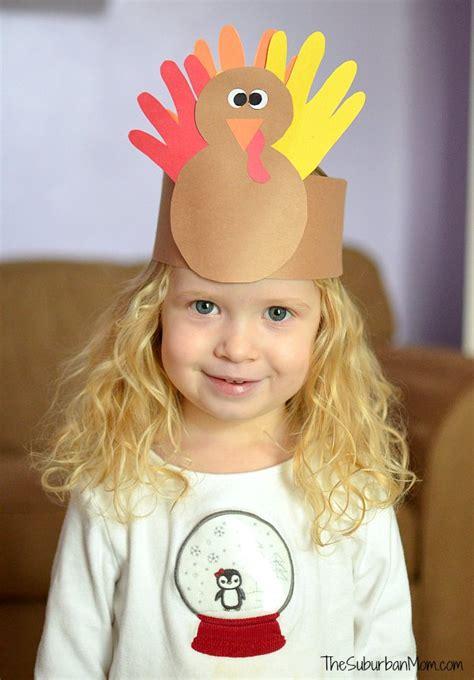 thanksgiving kids craft handprint turkey crown