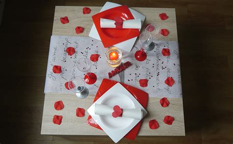 decoration pour la valentin r 233 aliser sa d 233 coration de table de valentin