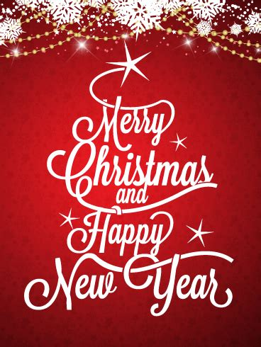 calligraphic style christmas card birthday greeting