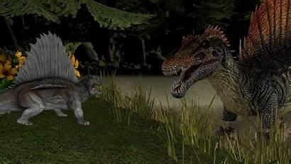 Spinosaurus Dimetrodon Kongzillarex619 Mama Meets Getwallpapers