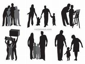 Vector of family silhouettes | free vectors | UI Download