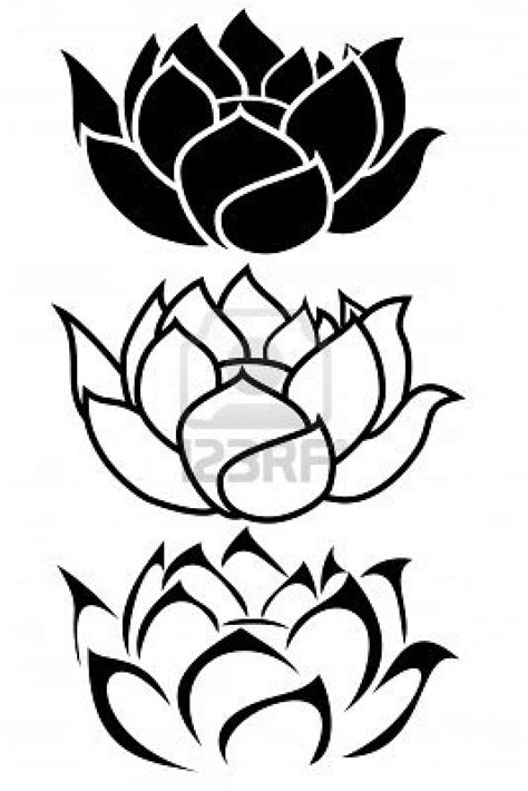 Tribal lotus flower tattoo meaning, traditional tattoo background filler