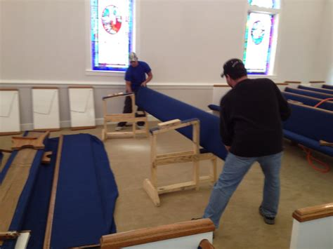 church pew repair