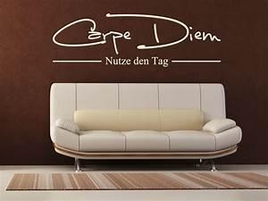Wandtattoo Bad Günstig : carpe diem nutze den tag wandtattoo wandaufkleber g nstig by wall art design ~ Markanthonyermac.com Haus und Dekorationen