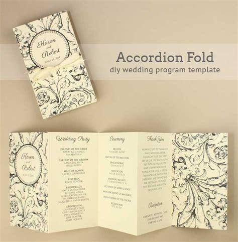 diy wedding invitations programs diy tutorial free printable folded wedding program