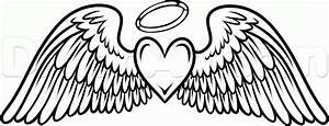 Coloring Pages of Crosses with Wings | how to draw angel ...