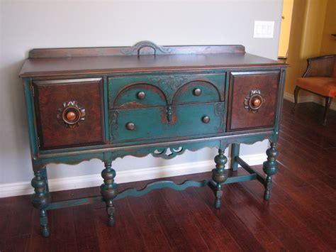 Painted Sideboards And Buffets by European Paint Finishes Peacock Green Sideboard