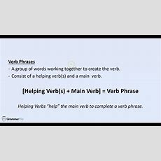 Verb Phrases  Grammar Lesson Trailer Youtube