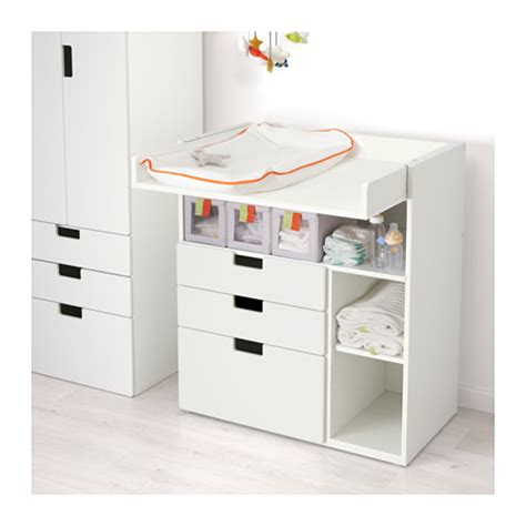 commode chambre bébé ikea stuva changing table with 3 drawers white 90x79x102 cm ikea