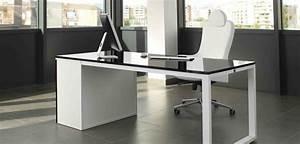 Meuble Bureau Design : table de bureau design bureau en coin lepolyglotte ~ Teatrodelosmanantiales.com Idées de Décoration