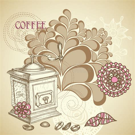 coffee cup flyer logo sign pop art trendy poster stock