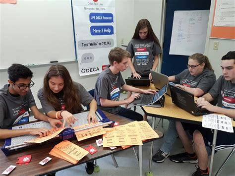 jp taravella students promote crisis prevention text tamarac talk