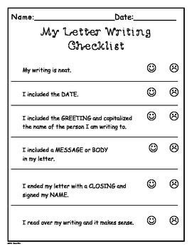 writers workshop letter writing templates  grade