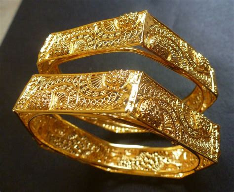 south 22k gold plated 2 bangles bracelets 6 angles sided net 2 4 ebay