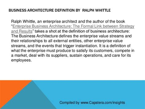 Definition Architecture by Definition Of Business Architecture