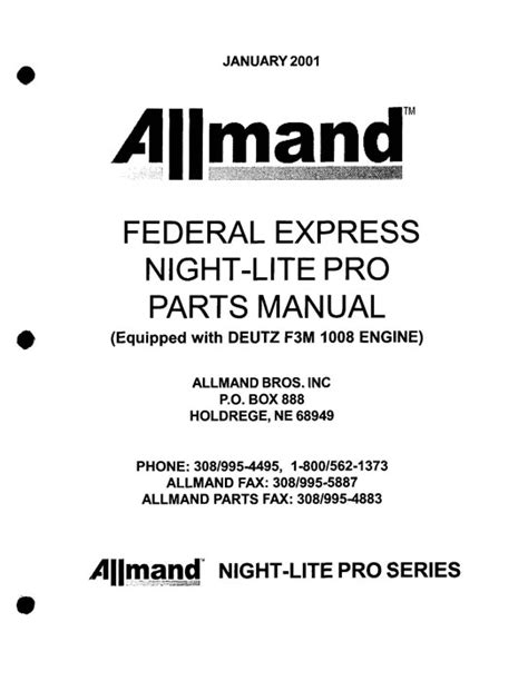 Allmand Light Tower Service Manual download free