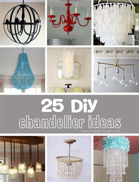 25 diy chandelier ideas make it and love it