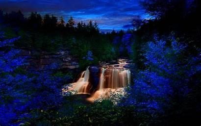 Forest Waterfalls Dream Falls Waterfall Wallpapers Dark