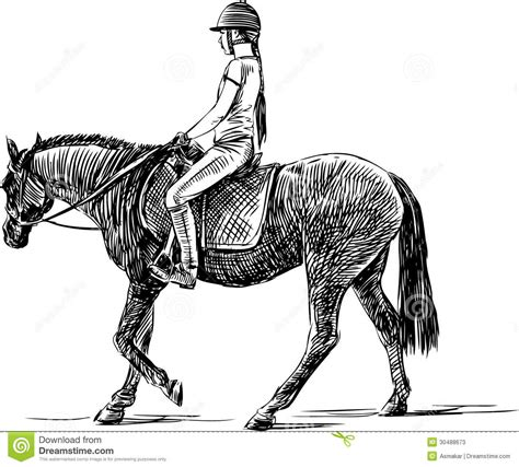 Drawn Horse Horse Riding Pencil And In Color Drawn Horse