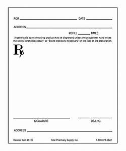 blank prescription form hunecompanycom With doctor prescription format
