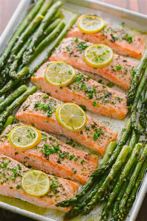 pan salmon asparagus recipe video natashaskitchencom