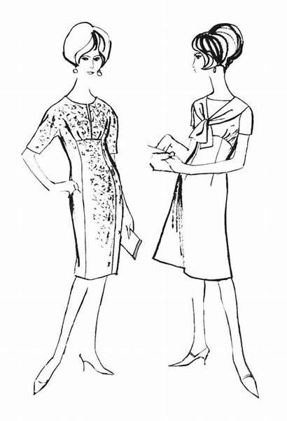 Coloring Pages Colouring 1960s Drawings Line Era