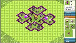 Coc  Th6 Hybrid Base  Trophy  Loot Base Layout - Clash Of Clans  Coc