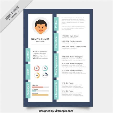 designer creative resume template vector premium