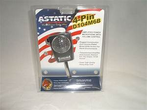 Astatic D104m6b 4pin Cb Ham Amplified Ceramic Power Hand