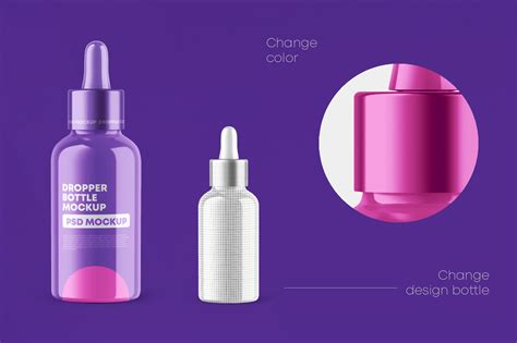 Download this free medical dropper to render your designs onto. Glossy Dropper Bottle Mockup Set in Packaging Mockups on ...